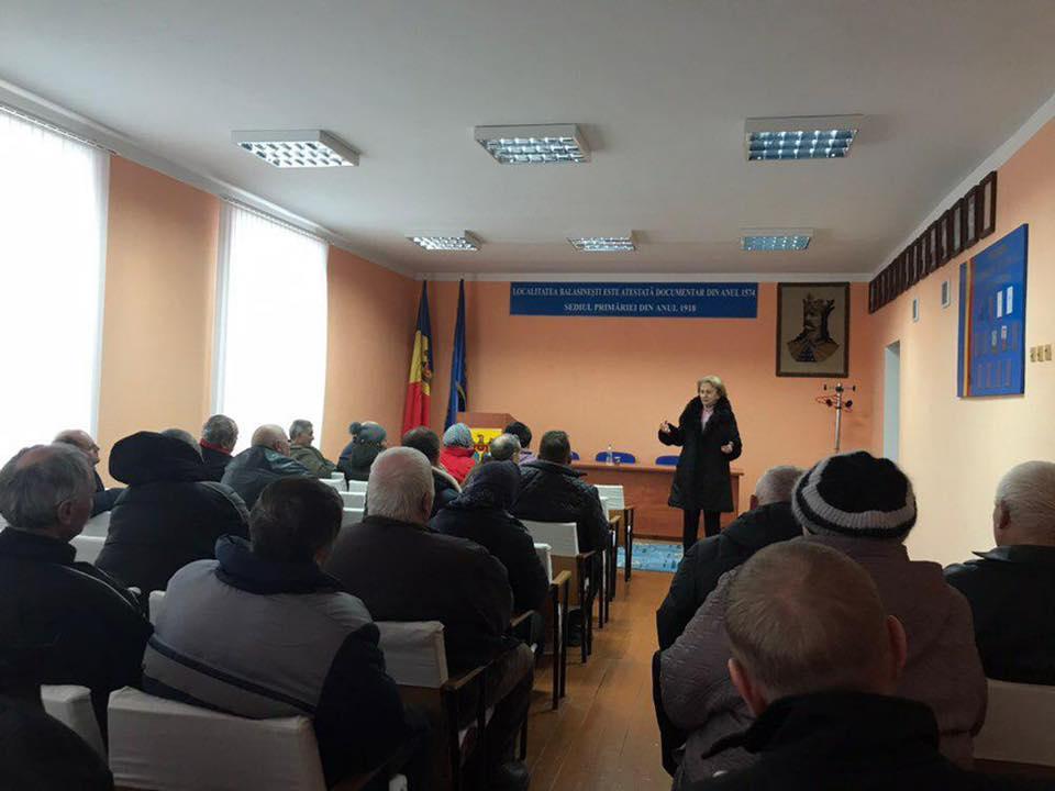 Гречаный рассказала о приоритетах ПСРМ в новом парламенте жителям Бричан (ФОТО)