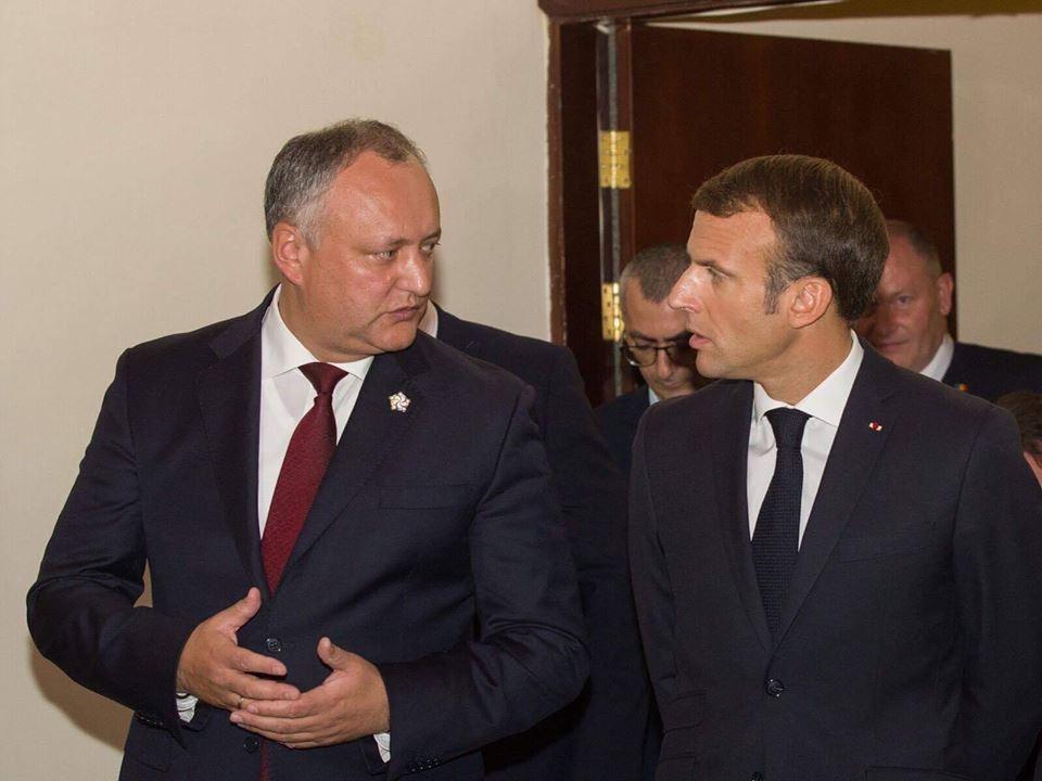 Додон принес соболезнования Макрону в связи с терактом в Страсбурге