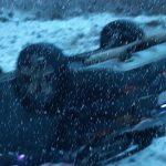 И снова снег, и снова ДТП: на въезде в город перевернулась легковушка (ФОТО, ВИДЕО)