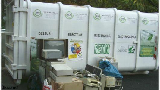В столичной примэрии установили первый контейнер для утилизации электронного мусора