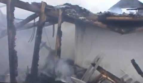 На территории Жабского монастыря произошёл пожар