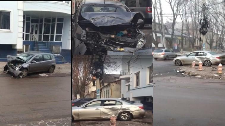 Водитель BMW спровоцировал серьёзное ДТП в центре столицы