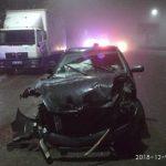 В Бельцах водитель протаранил грузовик и скрылся с места преступления на такси