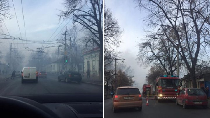 Всё в дыму: подробности крупного пожара в самом центре столицы (ФОТО, ВИДЕО)