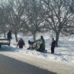 ДТП вблизи Конгаза: легковушка вылетела в кювет и опрокинулась (ФОТО)