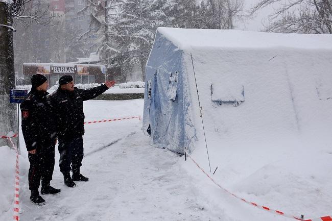 В Кишинёве установили мобильный пункт обогрева (ФОТО)