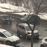 ДТП на Албишоаре: столкнулись два легковых авто (ФОТО)