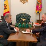 Додон встретился с председателем Союза ветеранов войны в Афганистане