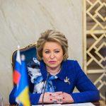 Валентина Матвиенко поздравила Зинаиду Гречаный с избранием на пост спикера