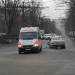 Машина скорой помощи столкнулась с легковушкой на Ботанике