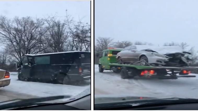 Утренняя авария в столице: машины всмятку, водители госпитализированы (ВИДЕО)