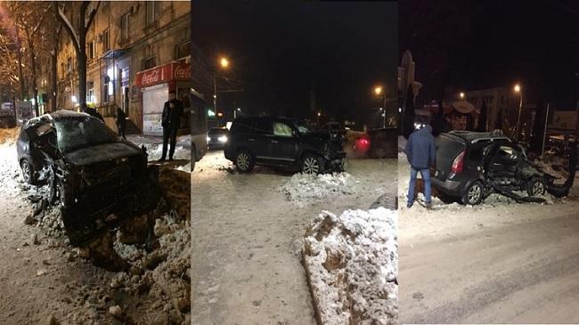 Момент вчерашнего ДТП в центре столицы попал на видеорегистратор (ВИДЕО)
