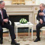 Додон - Путину: Россия - наш стратегический партнер, у наших народов вековые братские отношения