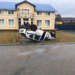 Серьёзное ДТП в Конгазе: столкнулись такси и машина службы охраны (ФОТО, ВИДЕО)