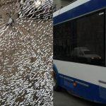 Неизвестные напали на столичный троллейбус: на месте ЧП работает полиция (ФОТО)