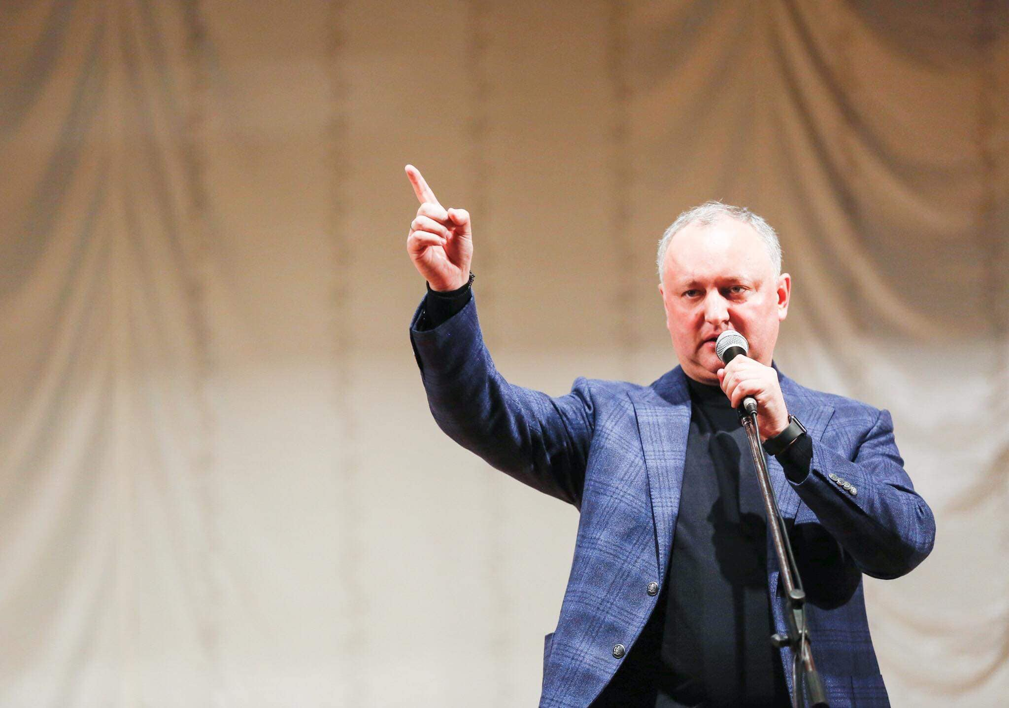 Igor Dodon: All anti-Russian actions of the authorities are directly related to the parliamentary elections