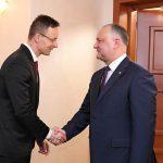 Додон встретился с министром иностранных дел и торговли Венгрии (ФОТО, ВИДЕО)