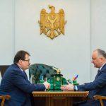 Додон обсудил важные вопросы с главой делегации ЕС в Молдове