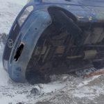 ДТП в Сороках: авто перевернулось на скользкой дороге
