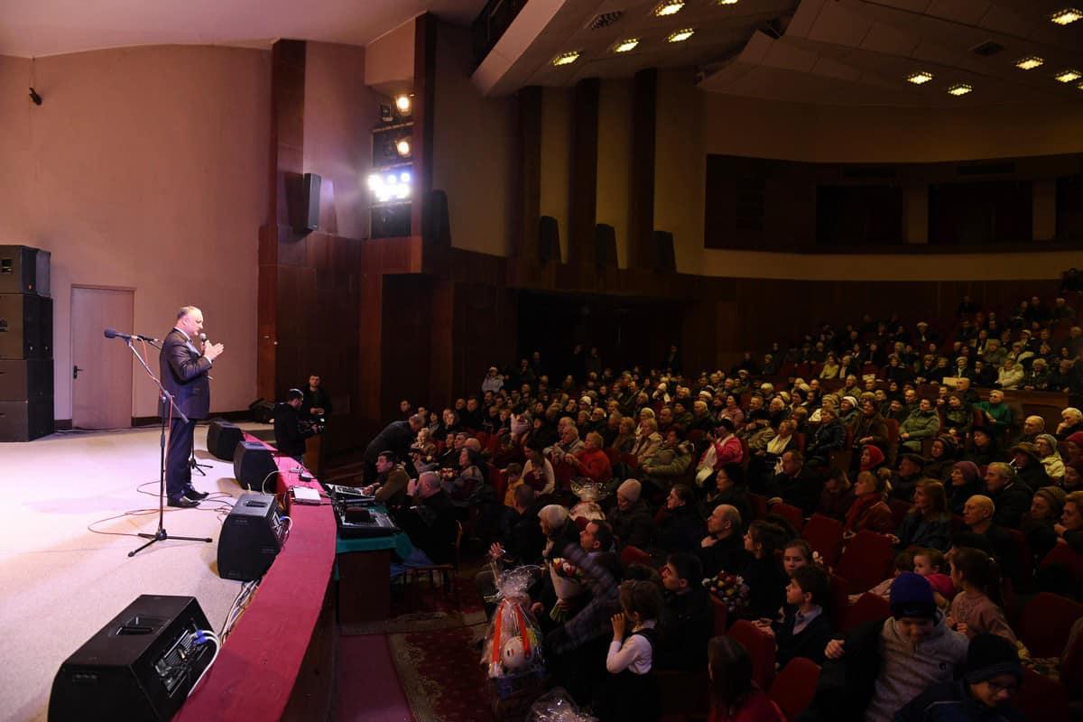 Встреча президента с жителями Кишинева прошла в переполненном зале (ВИДЕО, ФОТО)
