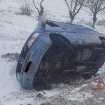 ДТП в Сороках: автомобиль угодил в кювет и перевернулся