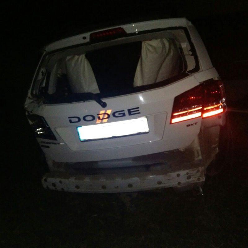 Авария на окраине Тирасполя: машина перевернулась