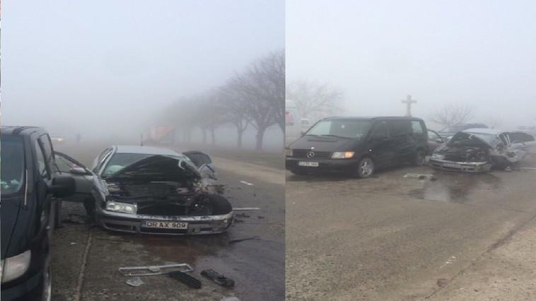 ДТП в Сынжерейском районе: три повреждённых авто, водитель ранен (ФОТО)