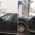 Очередное ДТП: на одной из столичных улиц Range Rover протаранил троллейбус (ФОТО)