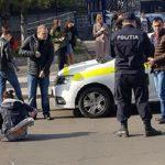 ДТП в столице: под колёсами полицейской машины оказалась женщина (ФОТО)