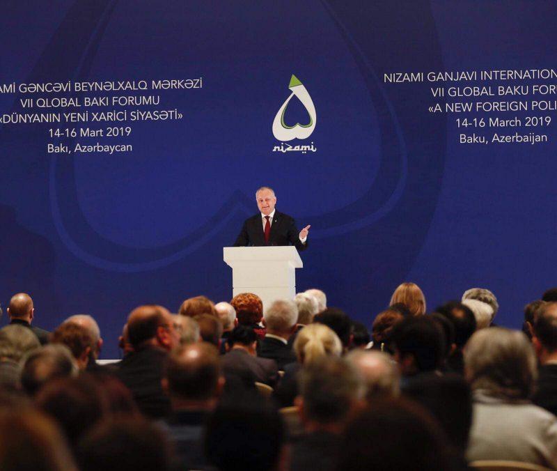 Додон озвучил идеи «Большого пакета для Молдовы» на Глобальном Бакинском форуме (ВИДЕО)