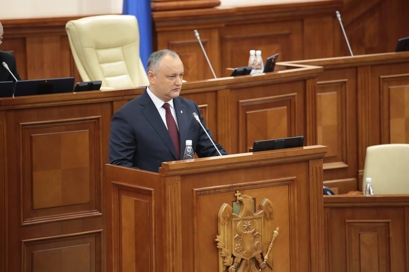 Игорь Додон выступит сегодня на заседании Парламента РМ