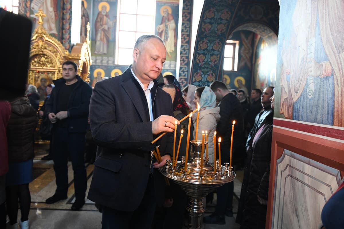 Додон: Православная вера – сокровище, доставшееся нам в наследство от предков (ФОТО)