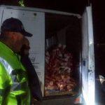 Сотрудники НИП поймали водителя грузовика, перевозившего более полутонны говядины (ФОТО)