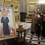 В Кафедральный собор доставили икону и мощи святой Матроны Московской