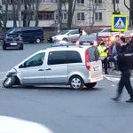 ДТП на Чеканах: на дороге образовалась пробка (ФОТО)