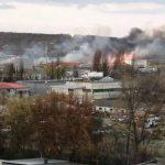 Пожар на Скулянке: снова загорелась сухая трава (ФОТО)