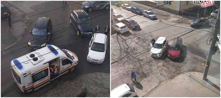 Две аварии на одном перекрёстке произошли в центре столицы (ФОТО)