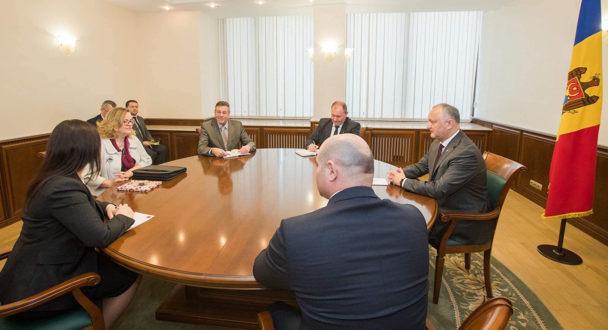 Додон провел встречу с послом Австрии в Молдове (ФОТО, ВИДЕО)