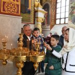 Президент вместе с семьей принял участие в службе в монастыре Куркь (ФОТО)