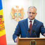 Додон: Избрание руководства парламента – единственная возможность преодолеть политический кризис