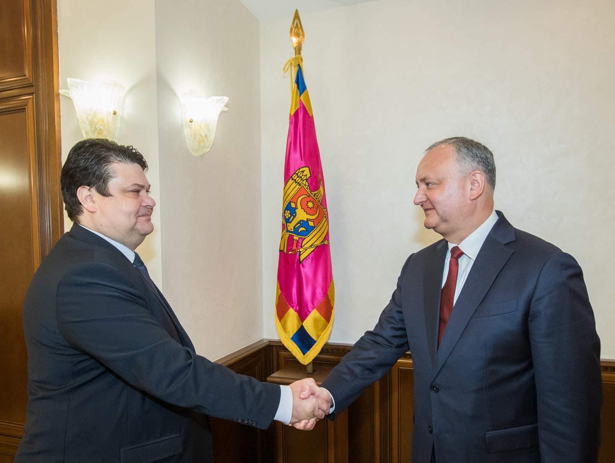 Додон встретился с послом Беларуси в Молдове (ВИДЕО, ФОТО)