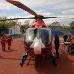 Пострадавшая от взрыва газа жительница Сынжерейского района была доставлена в Кишинёв экипажем SMURD (ФОТО)