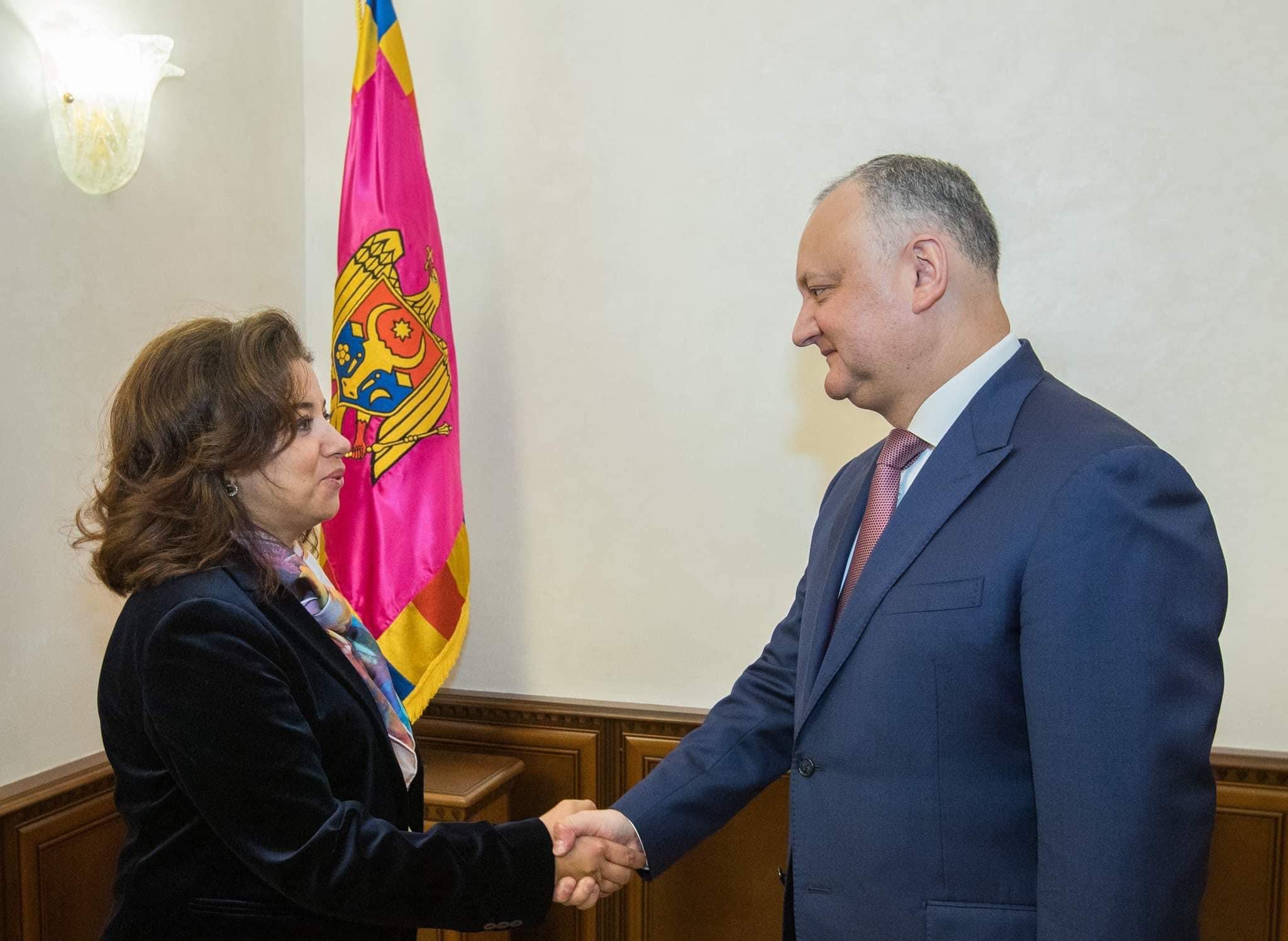 Додон встретился с новым резидентом-представителем Программы развития ООН в РМ (ФОТО, ВИДЕО)
