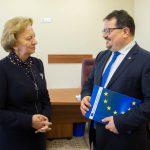 Зинаида Гречаный провела встречу с главой Делегации ЕС в Молдове (ФОТО)