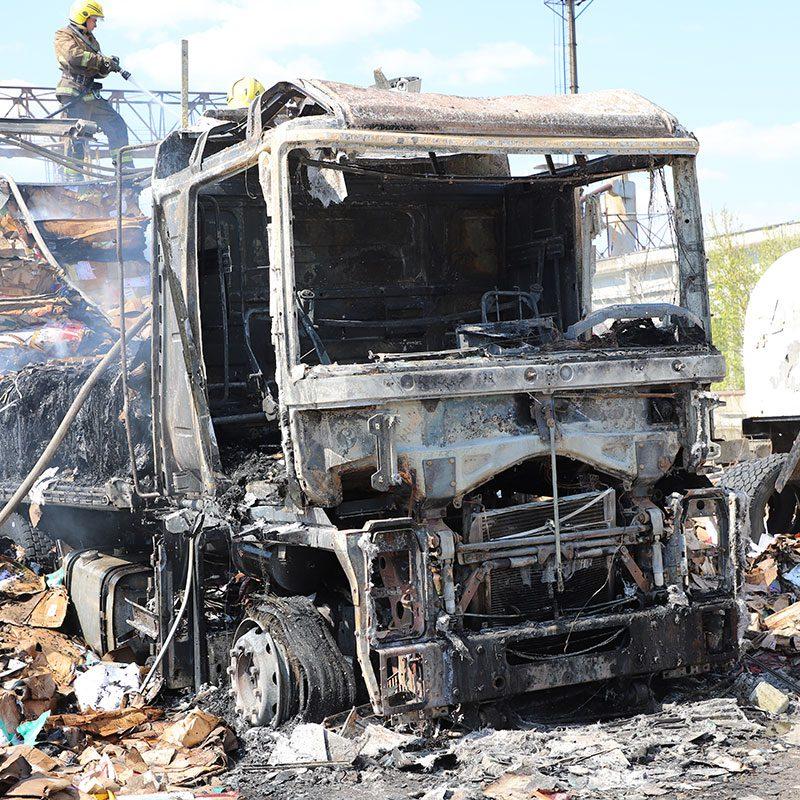 В Приднестровье сгорела фура и более 20 тонн груза