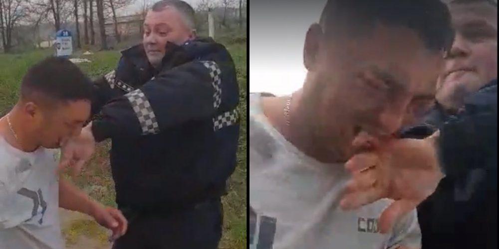 В Хынчештах пьяный водитель, пытаясь избежать штрафа, укусил полицейского (ВИДЕО)