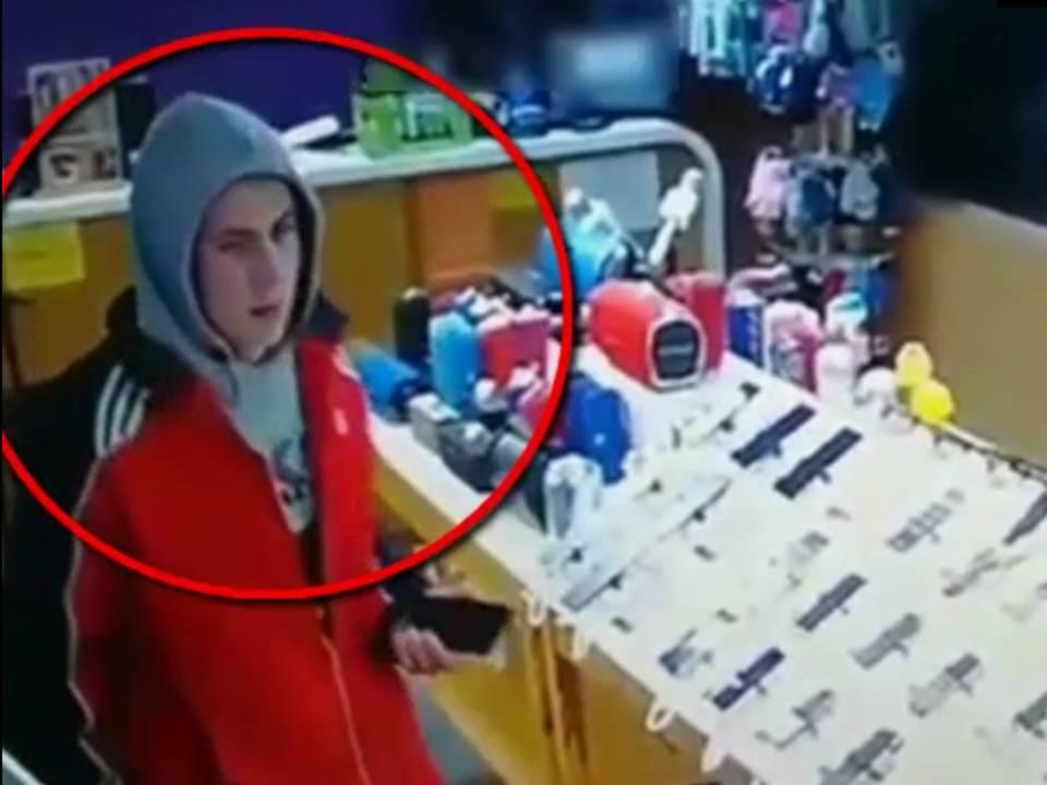 Граждан просят помочь в поиске подозреваемого в краже телефона (ВИДЕО)