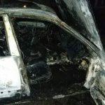 В Приднестровье сгорел автомобиль службы такси: огонь под сиденьем обнаружил пассажир (ФОТО)