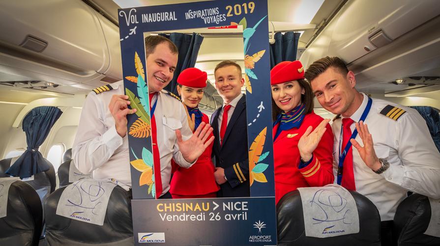 """Air Moldova запустила прямой авиарейс """"Кишинёв-Ницца"""""""