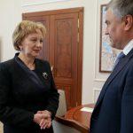 Председатель Госдумы РФ поздравил Зинаиду Гречаный с избранием на пост спикера